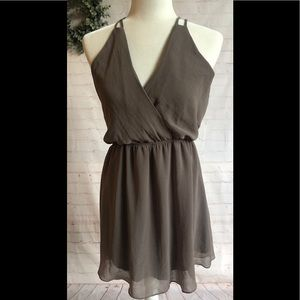 Gray Strappy dress! By Final Touch